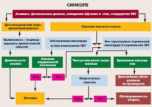 Синкопальное состояние в кардиологии - разновидности