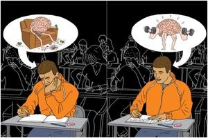 Напряженная работа мозга